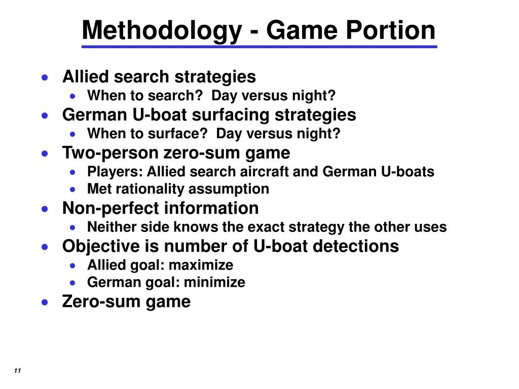Methodology - Game Portion