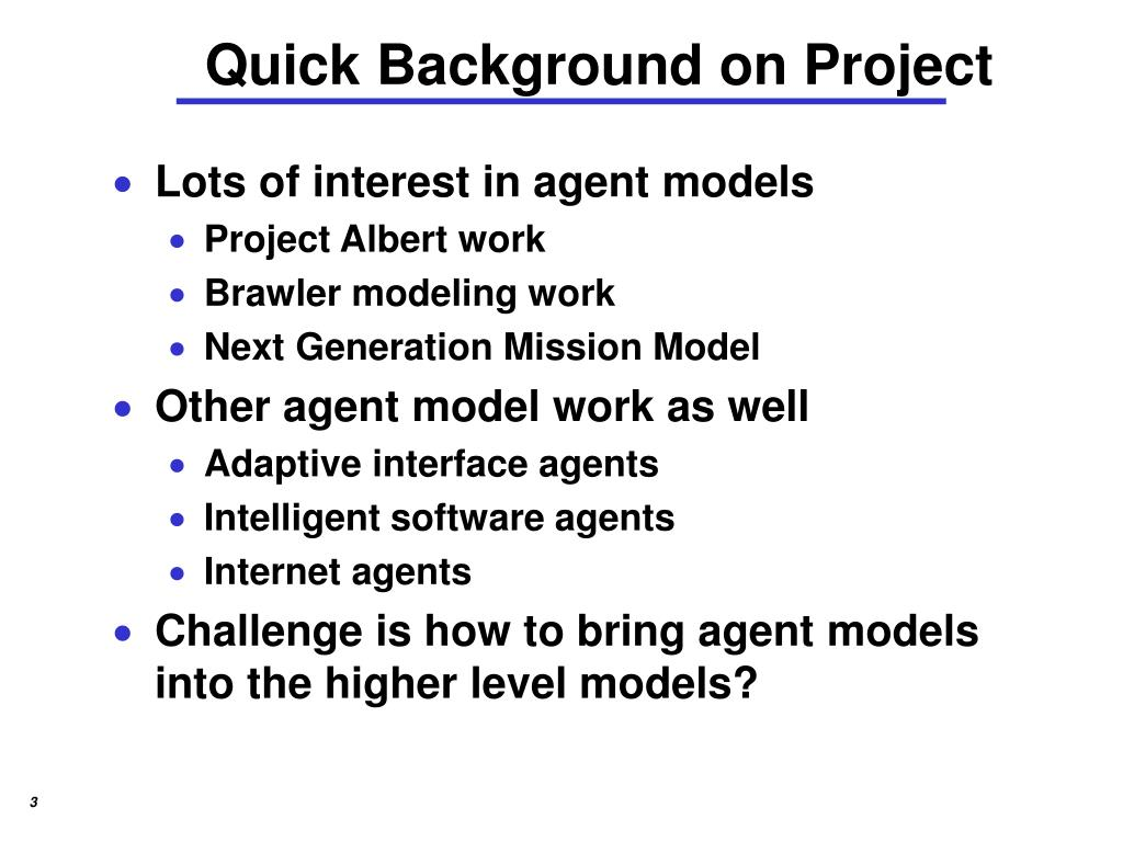 Quick Background on Project