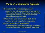 parts of a systematic approach