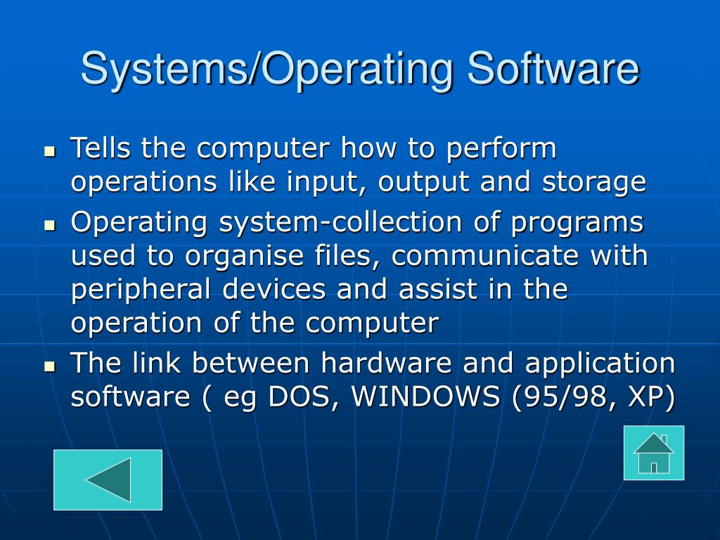 Systems/Operating Software