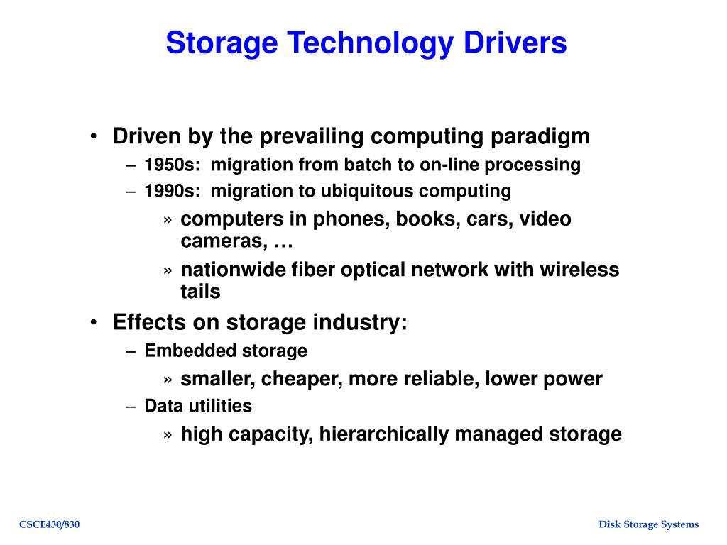 Storage Technology Drivers