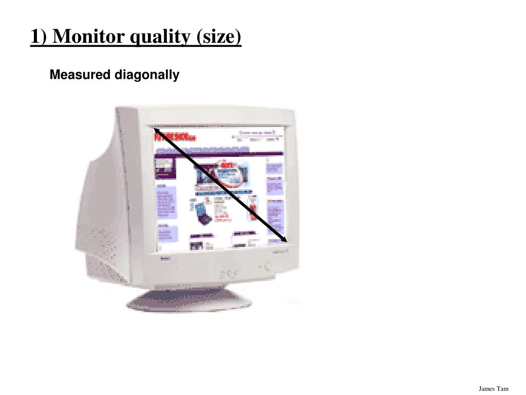 1) Monitor quality (size)