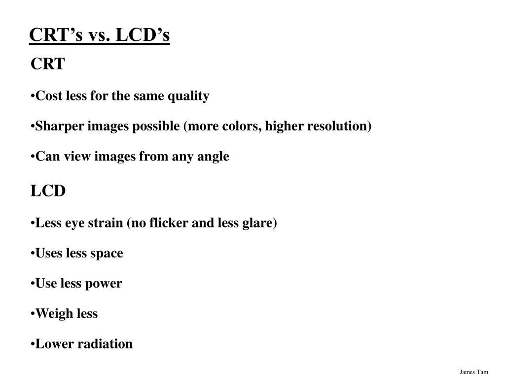 CRT's vs. LCD's
