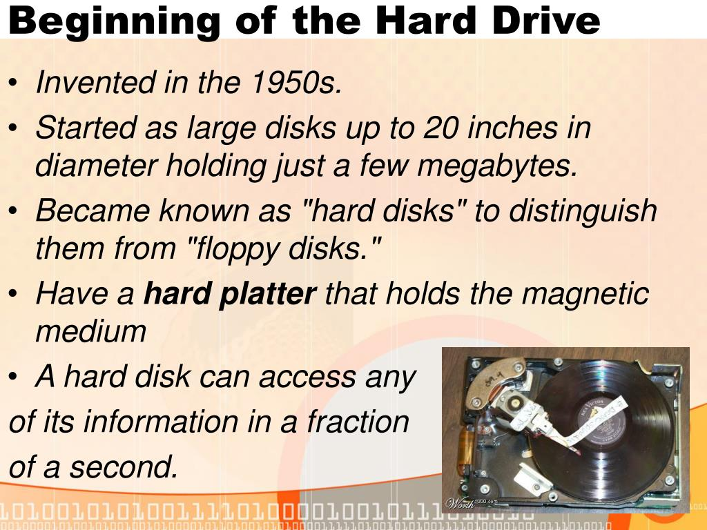 Beginning of the Hard Drive