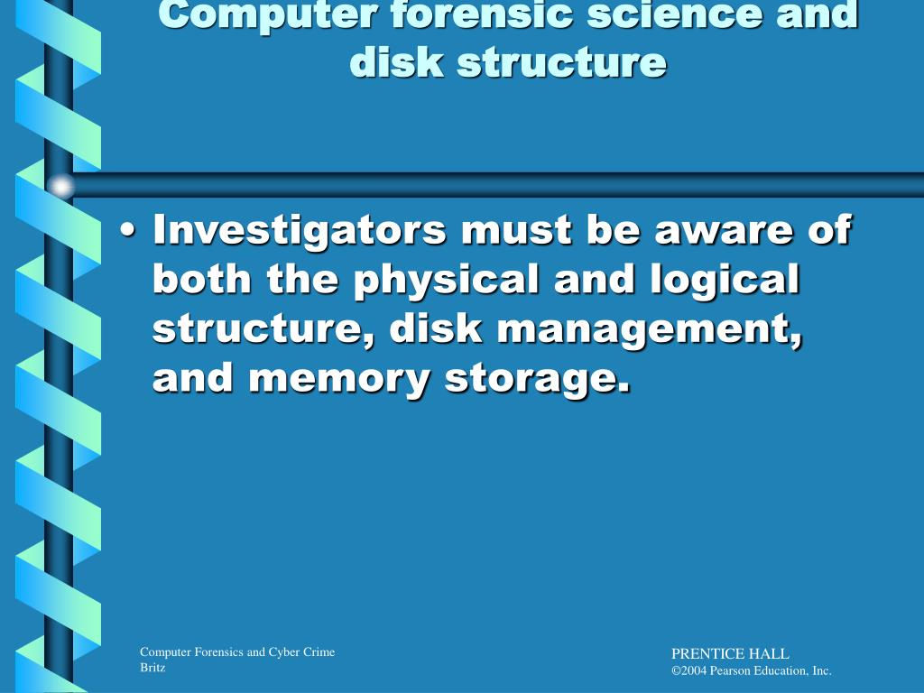 Computer forensic science and disk structure
