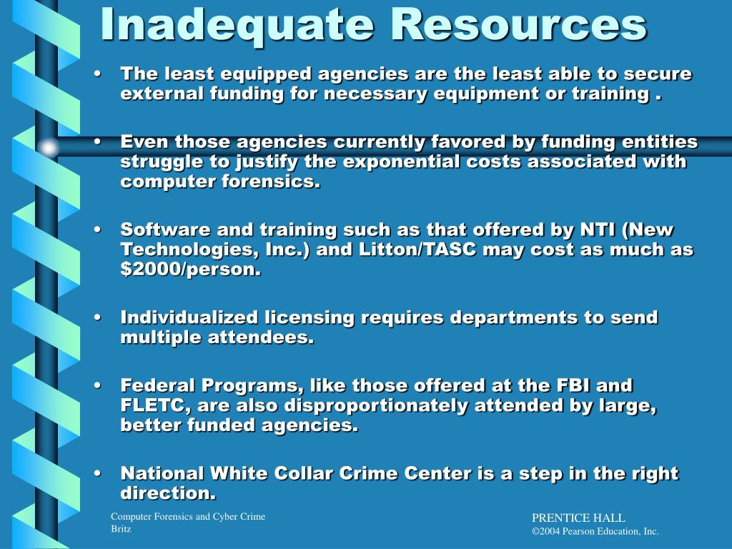 Inadequate Resources