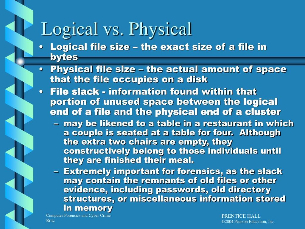 Logical vs. Physical