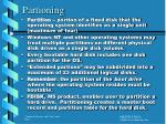 partioning
