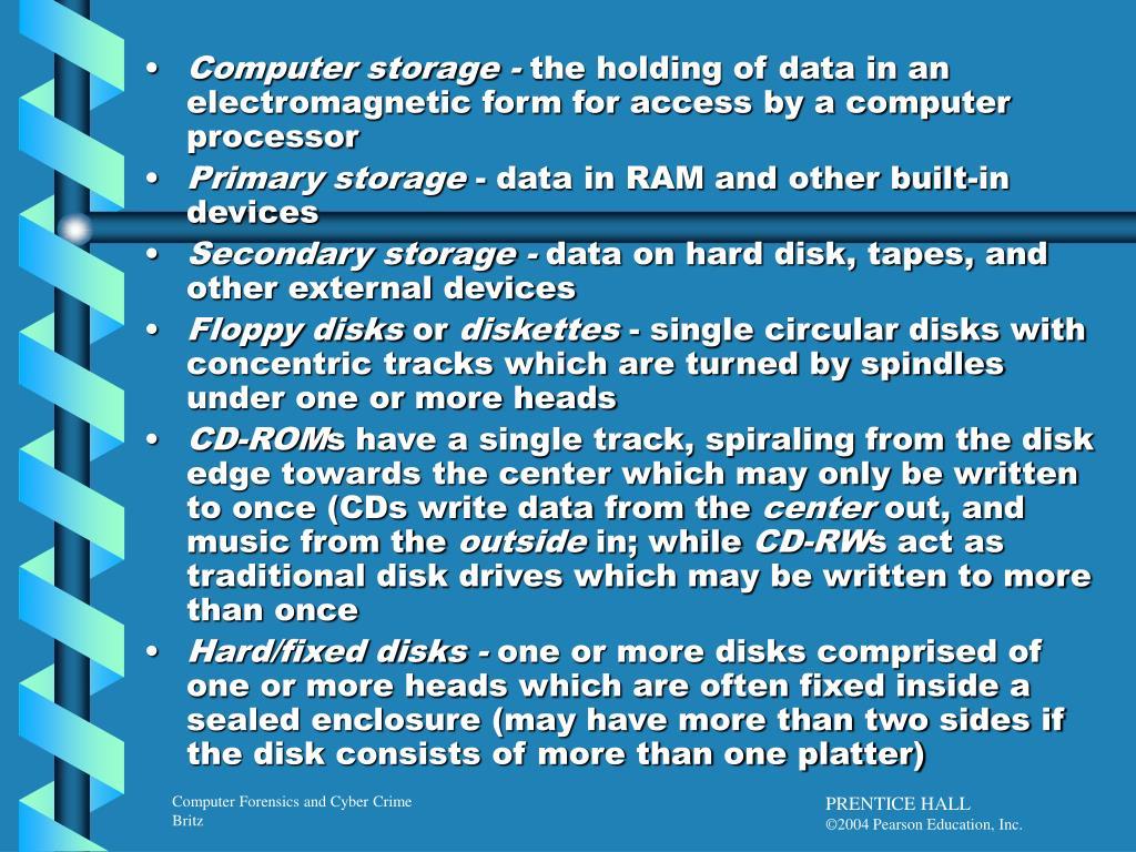 Computer storage -