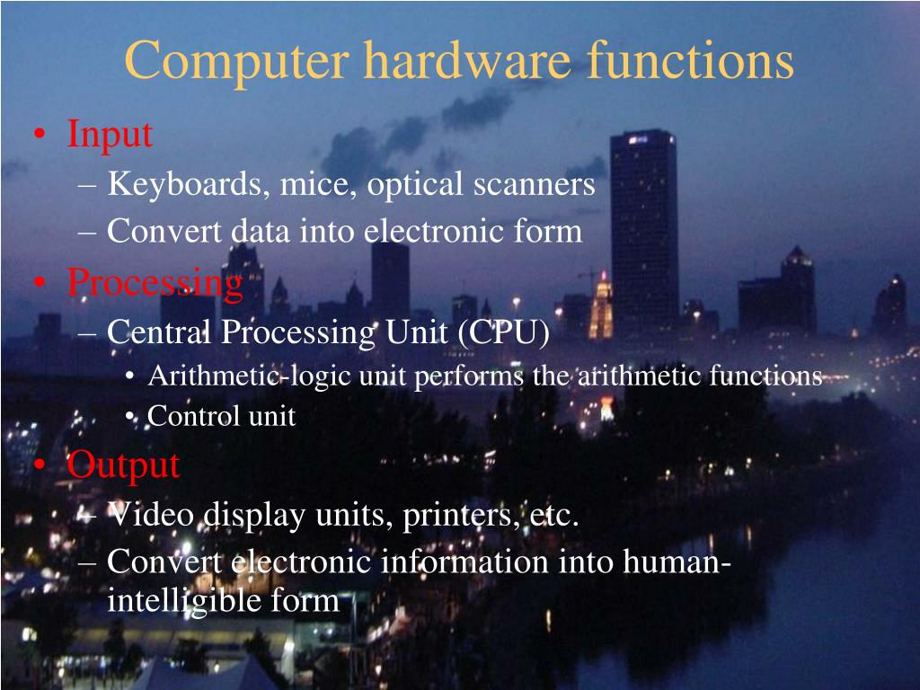 Computer hardware functions