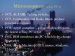 microcomputers a k a pc s
