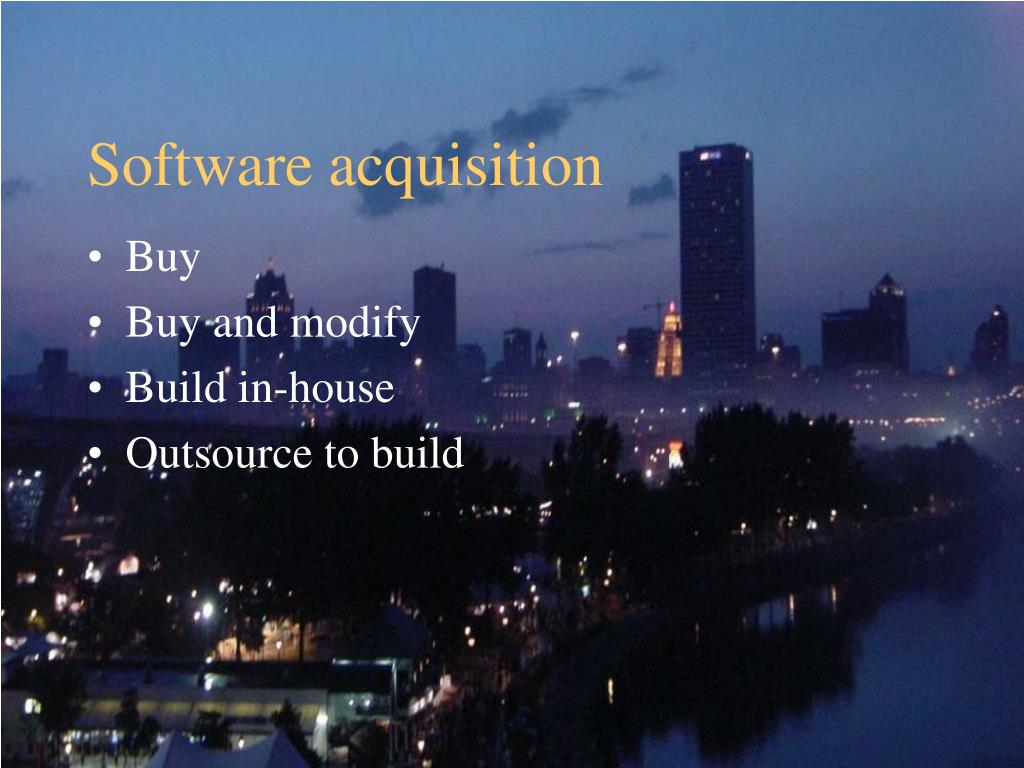 Software acquisition