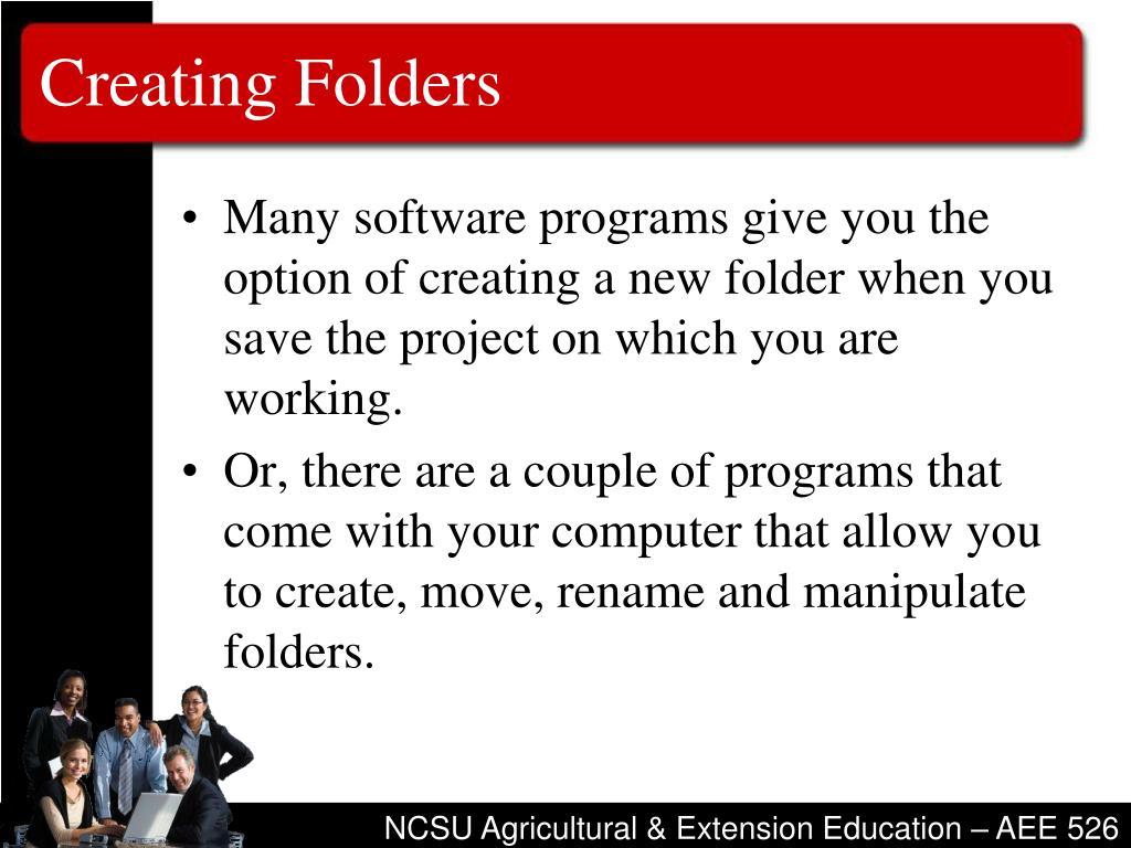 Creating Folders