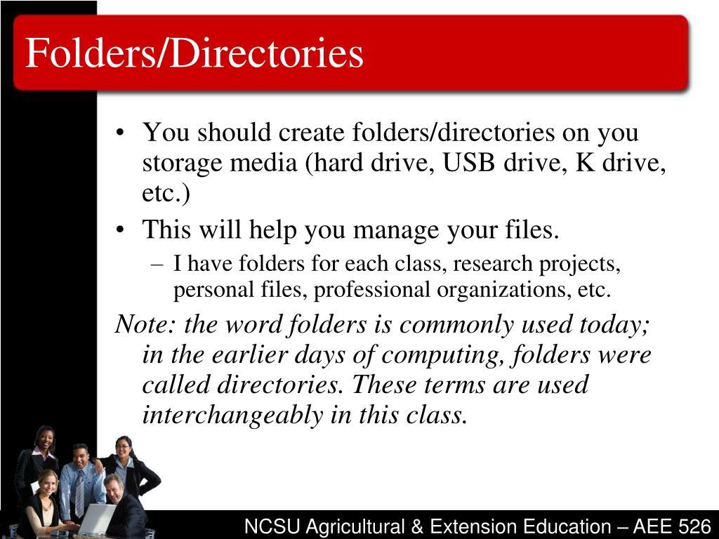 Folders/Directories