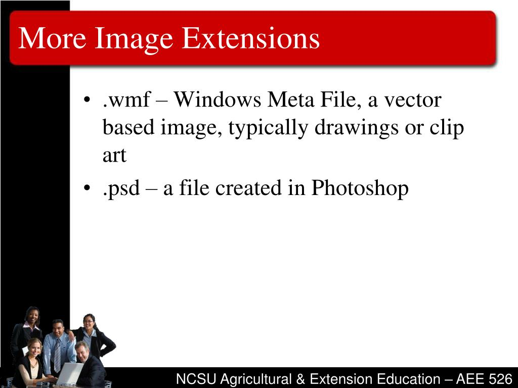 More Image Extensions