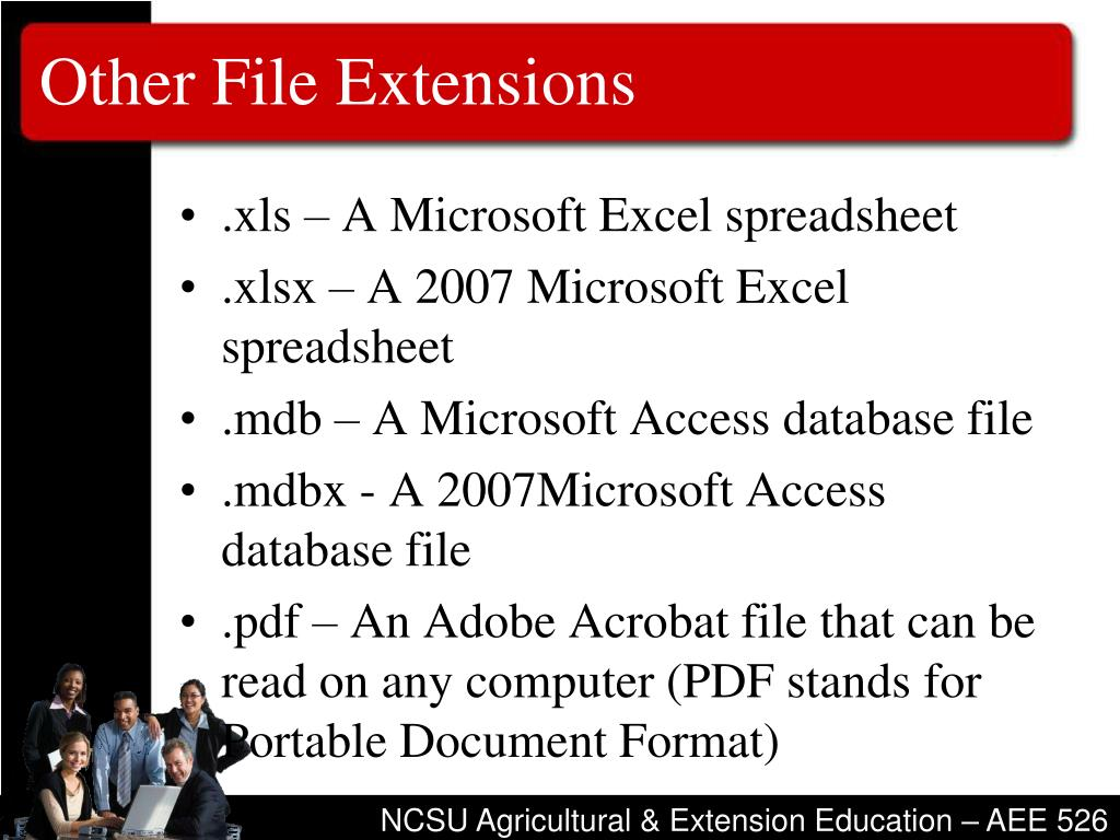 Other File Extensions