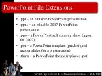 powerpoint file extensions