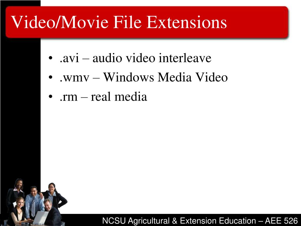 Video/Movie File Extensions