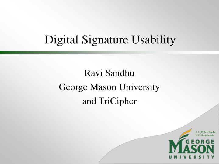 Digital signature usability l.jpg