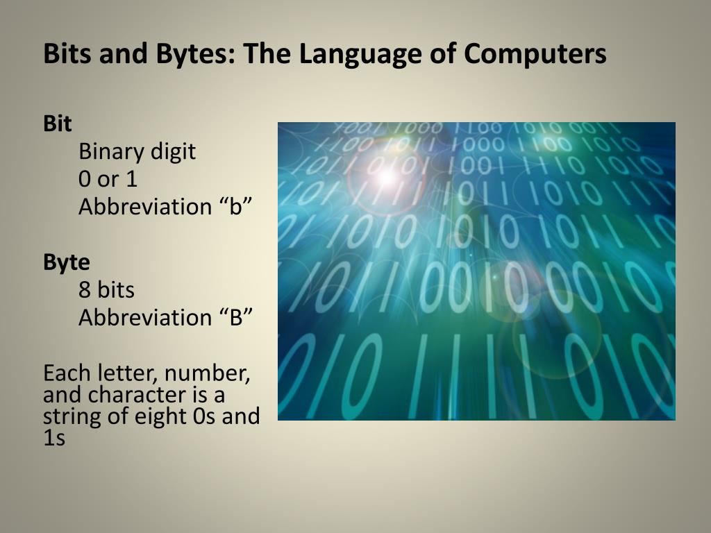 Bits and Bytes: The Language of Computers