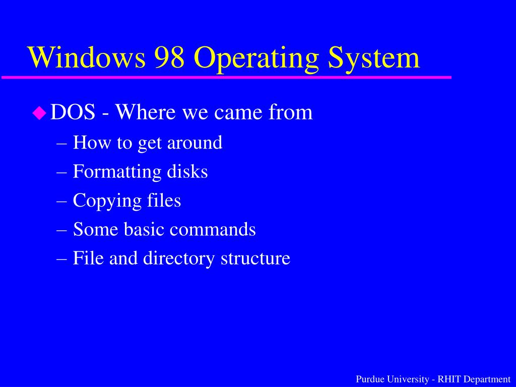 Windows 98 Operating System