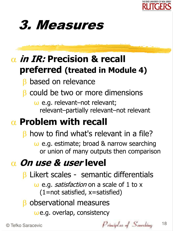 3. Measures