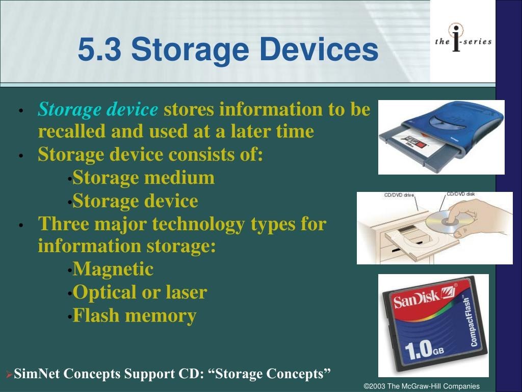 5.3 Storage Devices