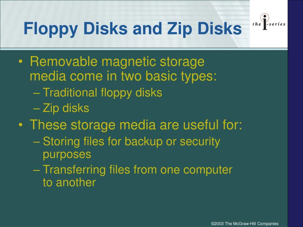 Floppy Disks and Zip Disks