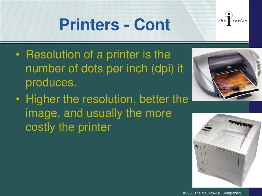 Printers - Cont