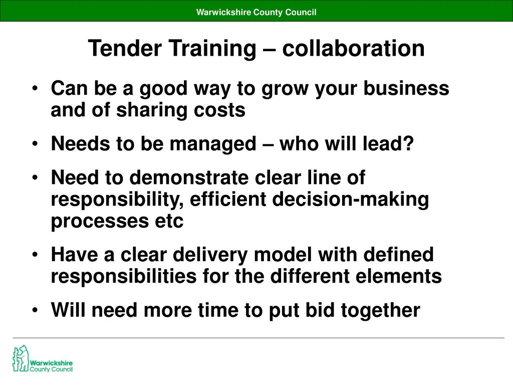 Tender Training – collaboration