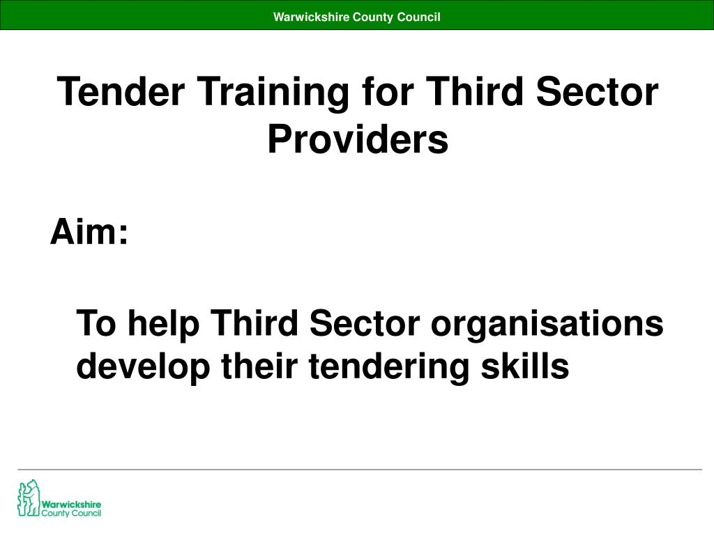 Tender Training for Third Sector Providers