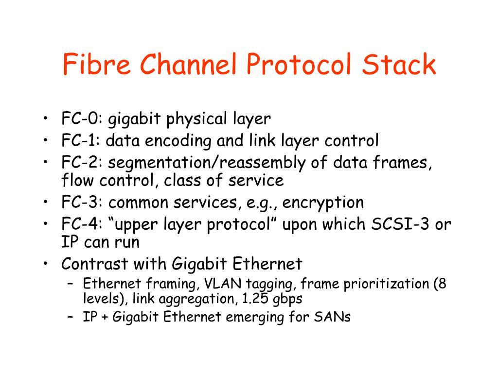 Fibre Channel Protocol Stack