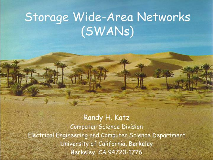Storage wide area networks swans