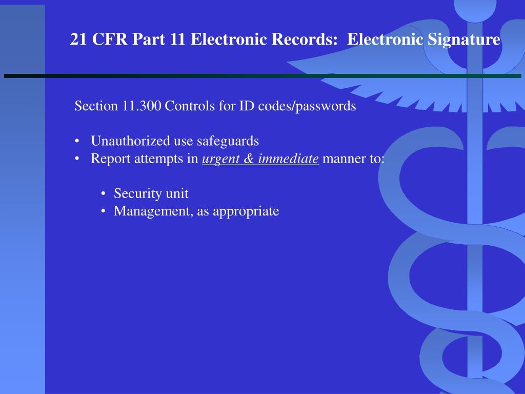 PPT - FDA UPDATE: STATUS OF THE ELECTRONIC SIGNATURE ...