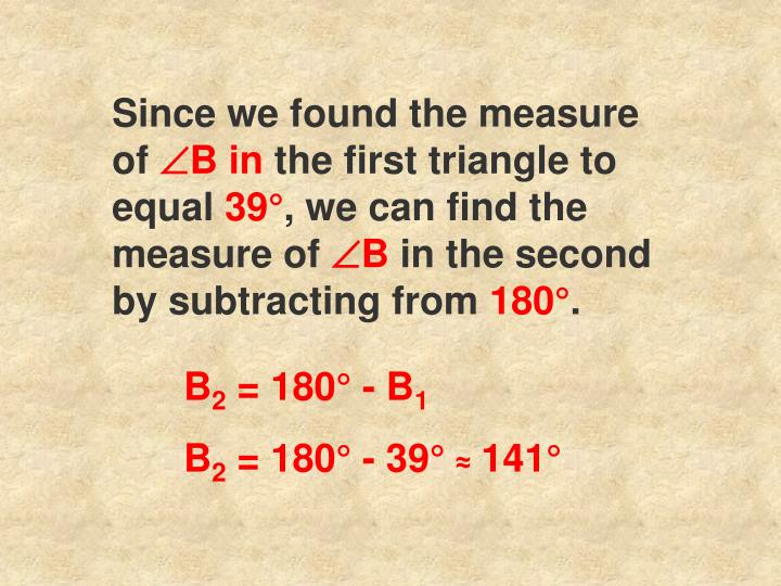 Since we found the measure of