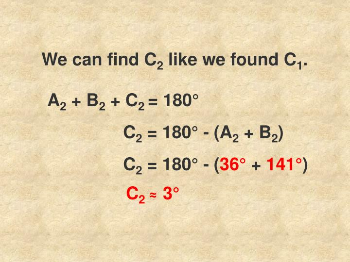 We can find C