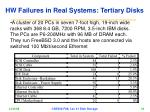hw failures in real systems tertiary disks