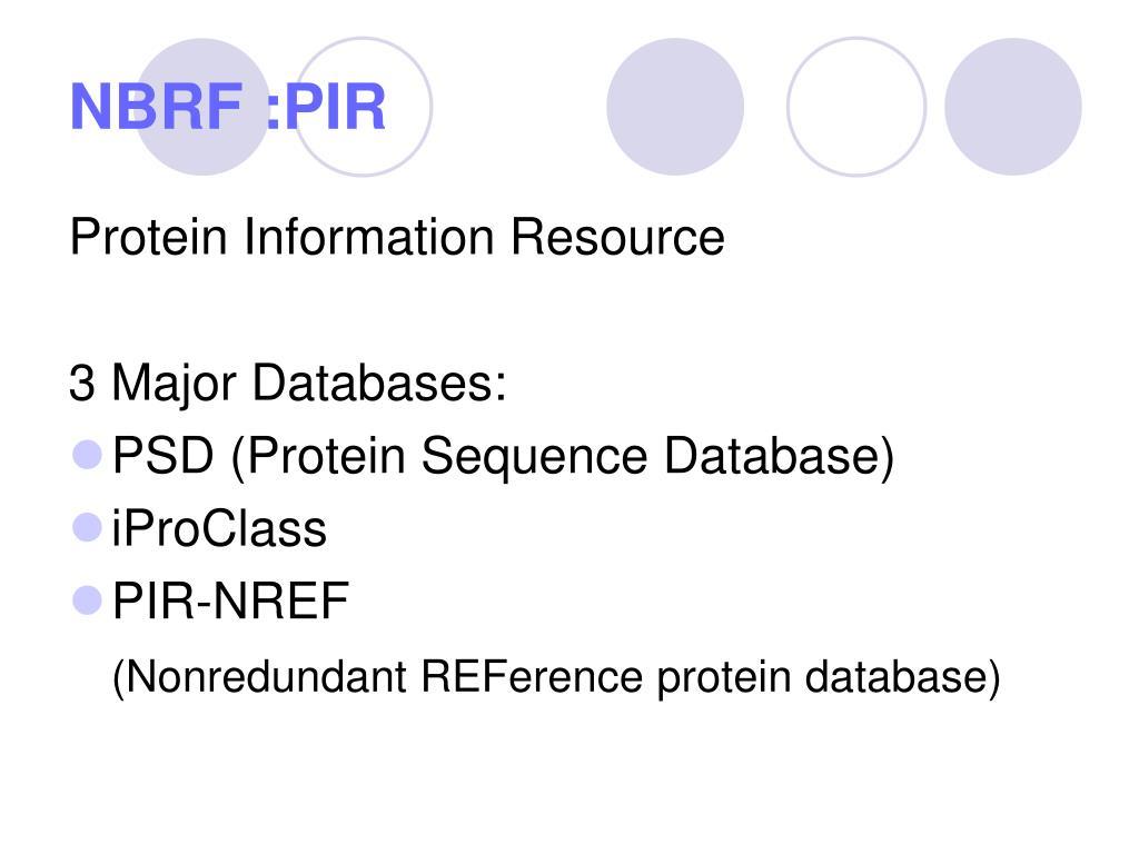 NBRF :PIR