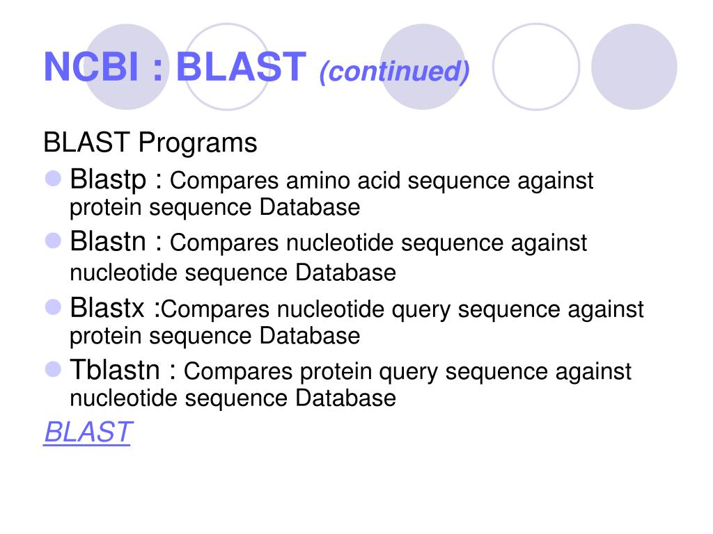 NCBI : BLAST