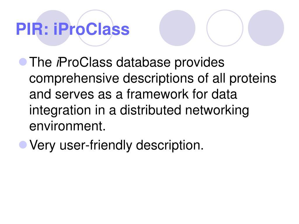 PIR: iProClass