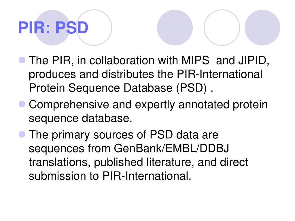 PIR: PSD