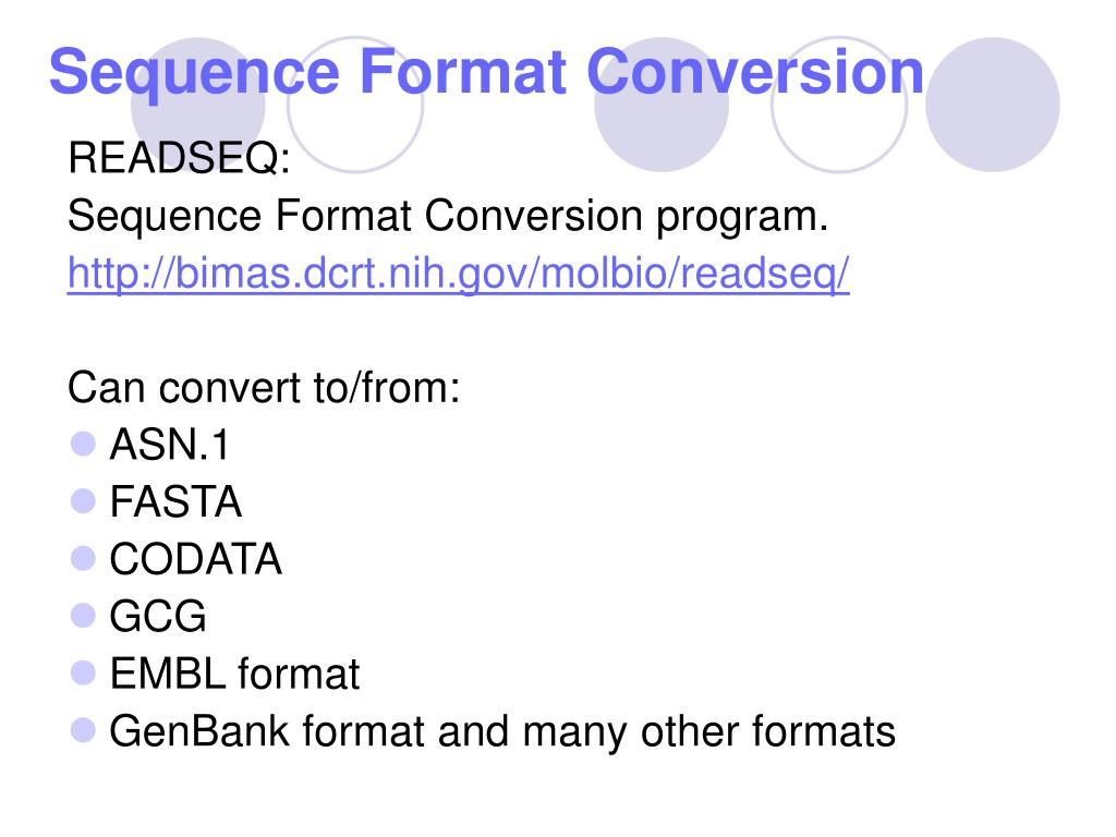 Sequence Format Conversion