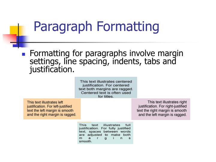 Paragraph Formatting
