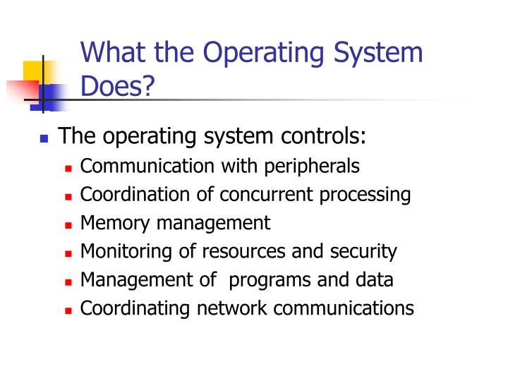 What the Operating System Does?