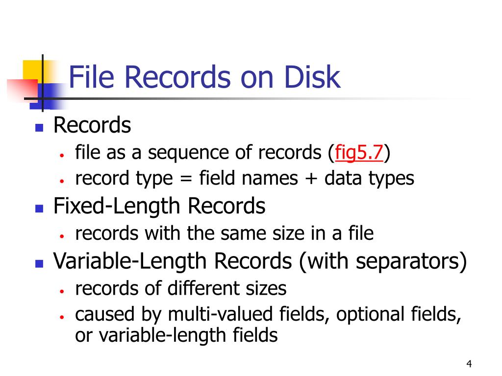 File Records on Disk