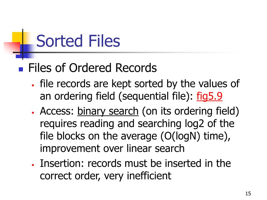 Sorted Files