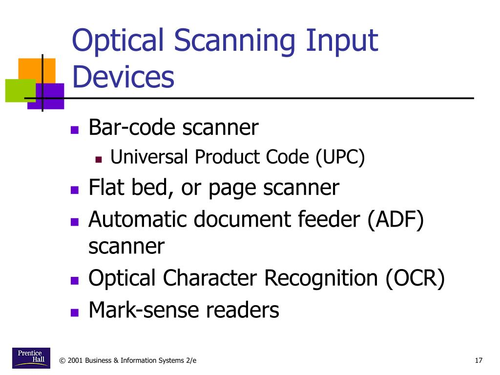Optical Scanning Input Devices