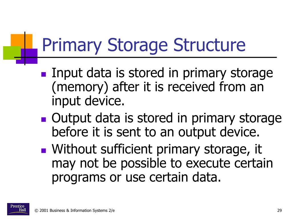 Primary Storage Structure