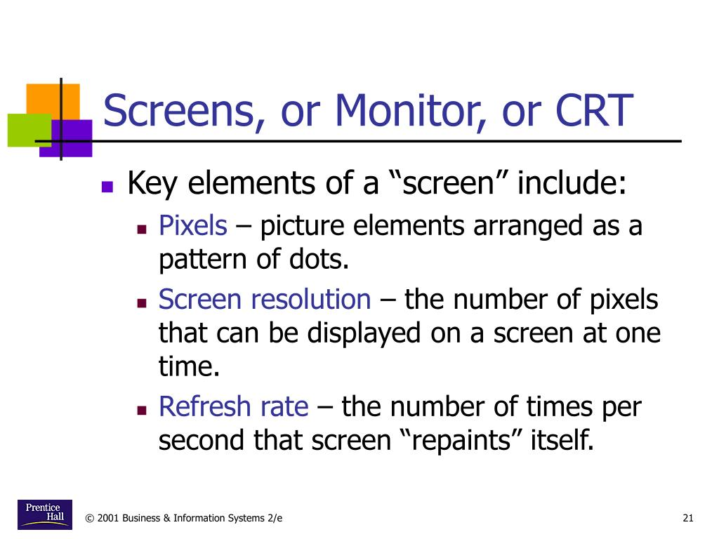 Screens, or Monitor, or CRT