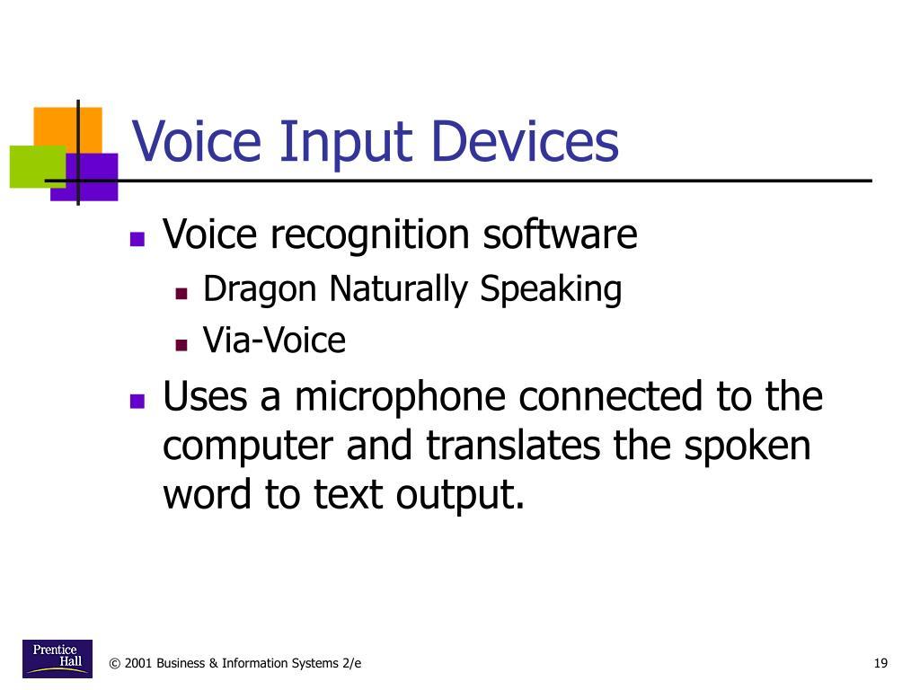 Voice Input Devices